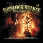 Cover für das neue Hörspiel -Die drei Beldonis- aus der Reihe -Sherlock Holmes Chronicles-