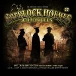 Covergestaltung zu Arthur Conan Doyles Klassiker -Die drei Studenten- aus der Hörspielreihe Sherlock Holmes Chronicles. Erscheint am 18. März 2016.