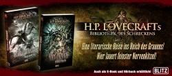 Gestaltung von Werbebanner für BLITZ zur neuen Lovecraft Buchreihe